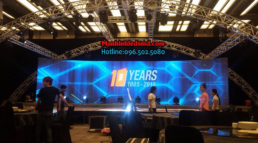 Màn hình LED sân khấu tiệc cưới P10