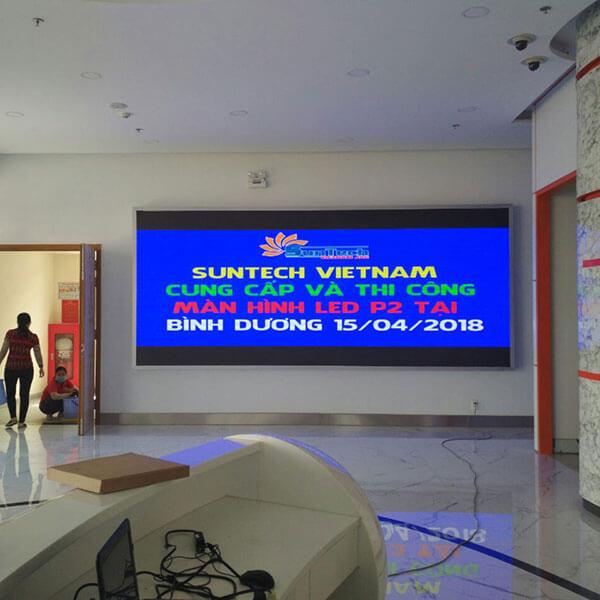 Lắp đặt màn hình LED P2 trong nhà