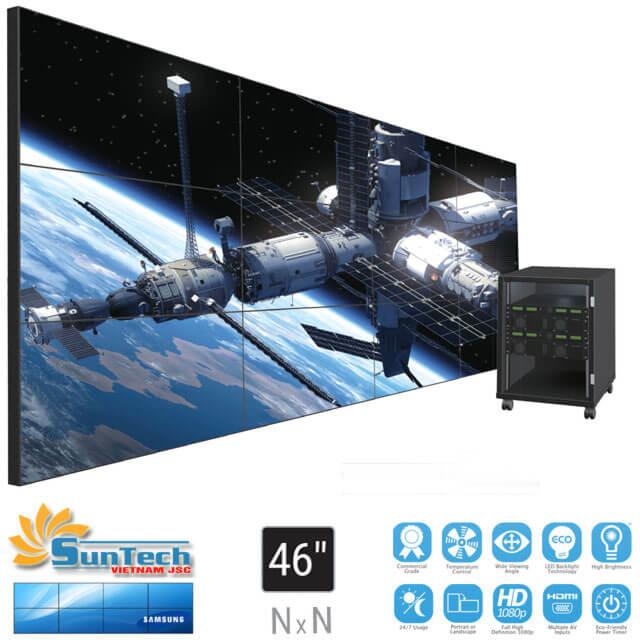 màn hình ghép samsung 46 inch được lắp đặt bởi suntech