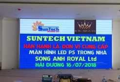 Thi công màn hình LED P5 tại nhà hàng tiệc cưới Song Anh Royal