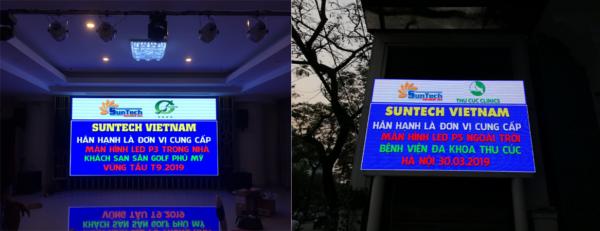 màn hình led trong nhà và màn hình led ngoài trời